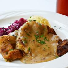 Pork Schnitzel with Oktoberfest Gravy